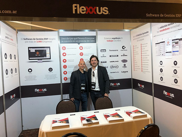 El stand de Flexxus, uno de las más activos